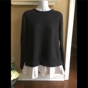 Kensie sweatshirt/sweater with peplum.